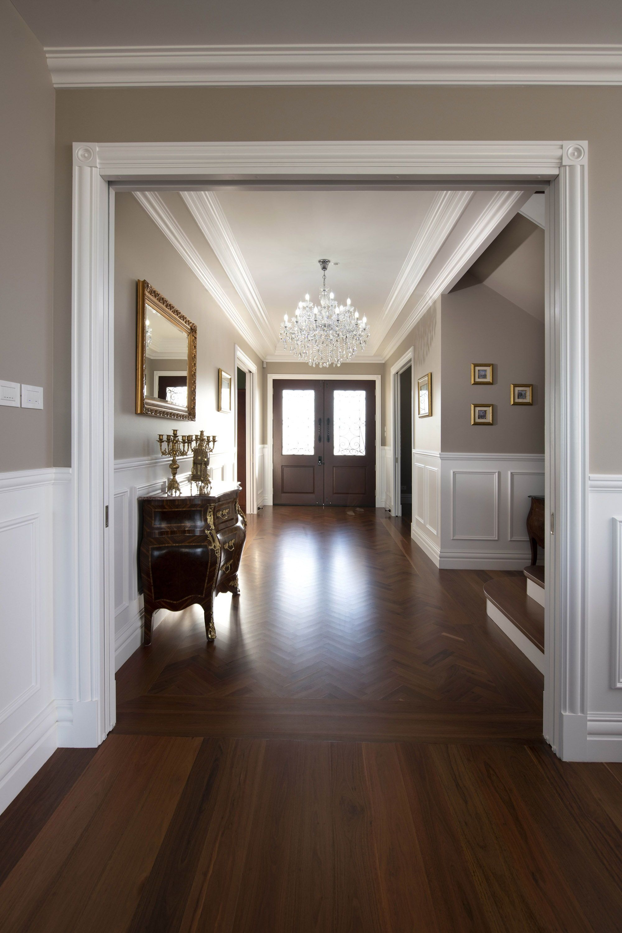 This Stunning French Provincial Style Home By Luxe Home Designs By Mimi Set High On A Hill In The Picturesque Hunte Foyer Design House Design Home Room Design
