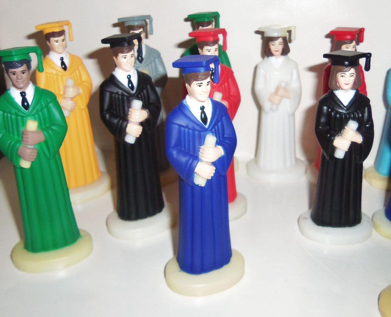 Graduation Cake Topper Vintage Girl In Purple Royal Navy Gown Etsy Vintage Cake Toppers Graduation Cake Toppers Graduation Robes