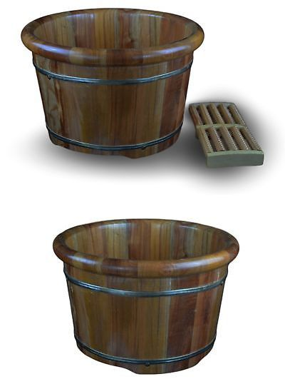 Spas Baths and Supplies: 16 Solid Tsubaki Wood Foot Basin Tub Bucket ...