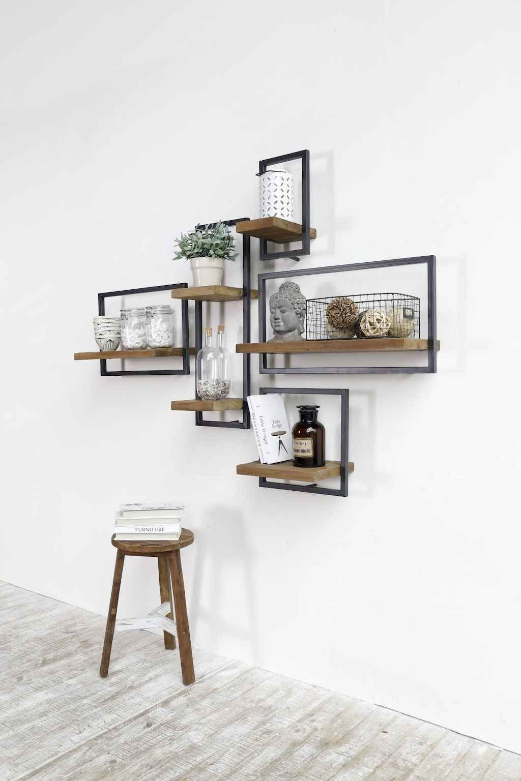 73 Rustic Living Room Decor With Floating Shelves Ideas Rustic Living Room Living Room Decor Rustic Home Decor #rustic #living #room #shelf