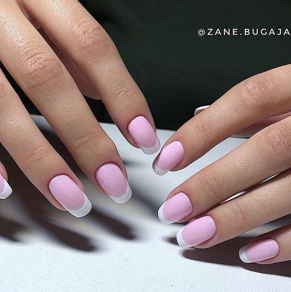 Beautiful pink nails. Gel nails art design made by @Zane.bugaja ...
