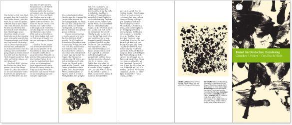 büro uebele // art at the german bundestag brochures, folders, posters berlin 2009–2012