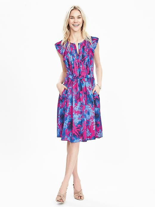 77496ad5fb29 Floral Flutter-Sleeve Dress | Banana Republic | Fashion | Dresses ...