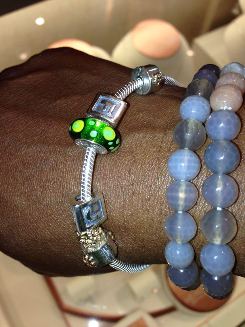 Pandora and precious stones bracelet.