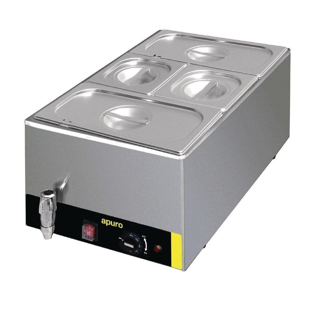 Apuro Bain Marie With Tap And Pans Icegroup Hospitality