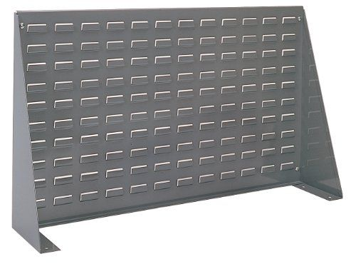 AkroMils 98636 Louvered Steel Panel Bench Rack for mounting AkroBins 36Inch Length by 20Inch Height by 8Inch Width Grey -- Click image to review more details.
