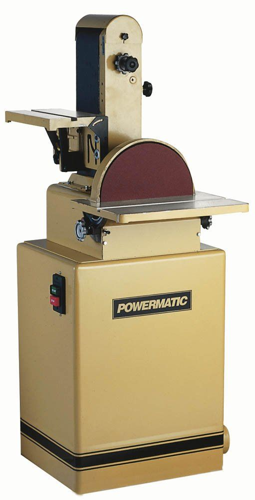 Powermatic 1791291K Model 31A 6-Inch/12-Inch 1-1/2 Horsepower Belt/Disc Sander, 115/230-Volt 1 Phase - Power Combination Disc And Belt Sanders - Amazon.com