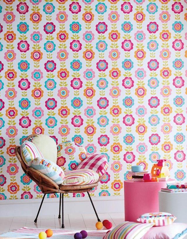 25 Ideen Für Kinderzimmer Tapeten U2013 Farbenfrohe Muster Und Prints  #farbenfrohe #ideen #kinderzimmer