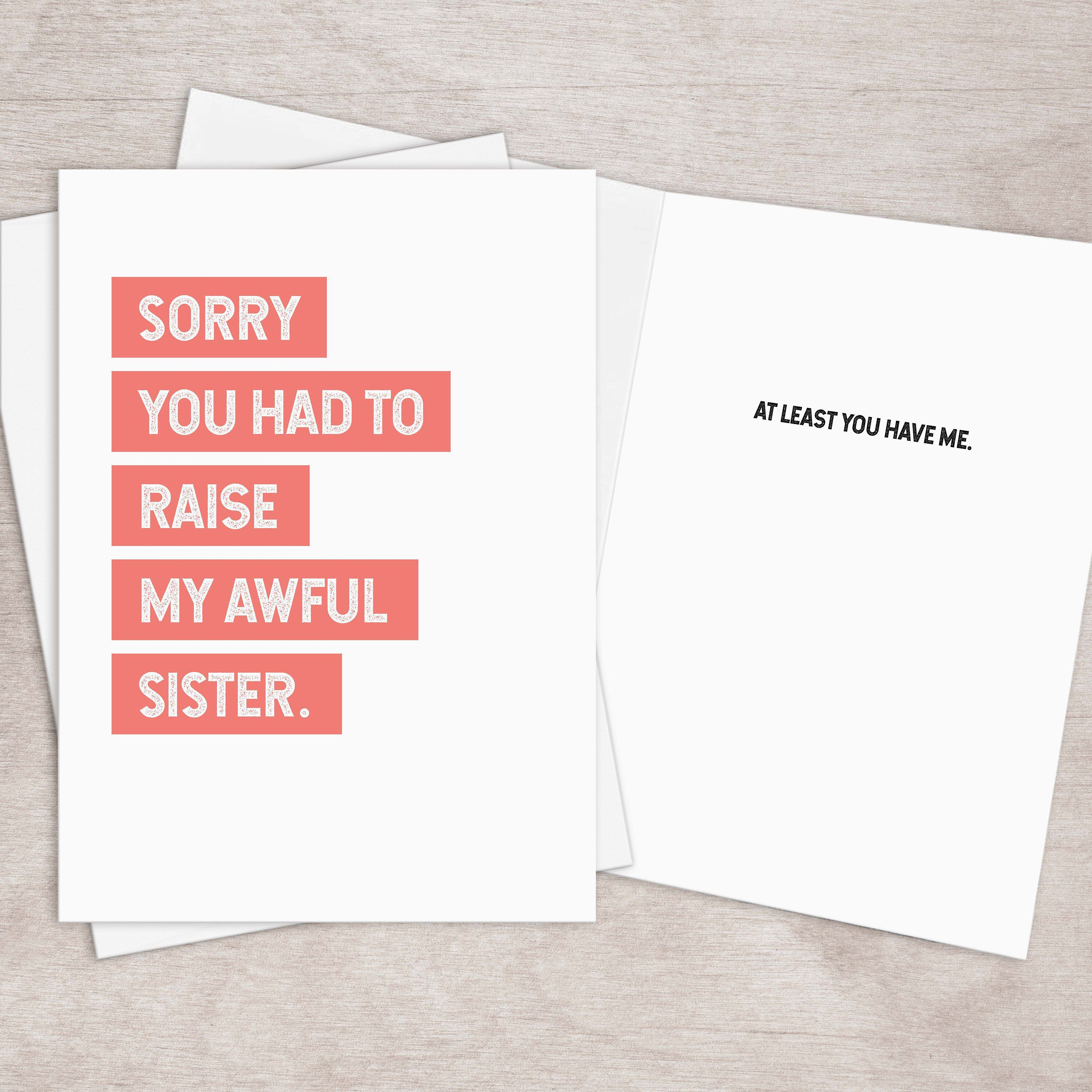 Excited To Share The Latest Addition To My Etsy Shop Printable Funny Mothers Day Card From Si In 2020 Funny Fathers Day Card Birthday Cards For Mom Funny Mothers Day