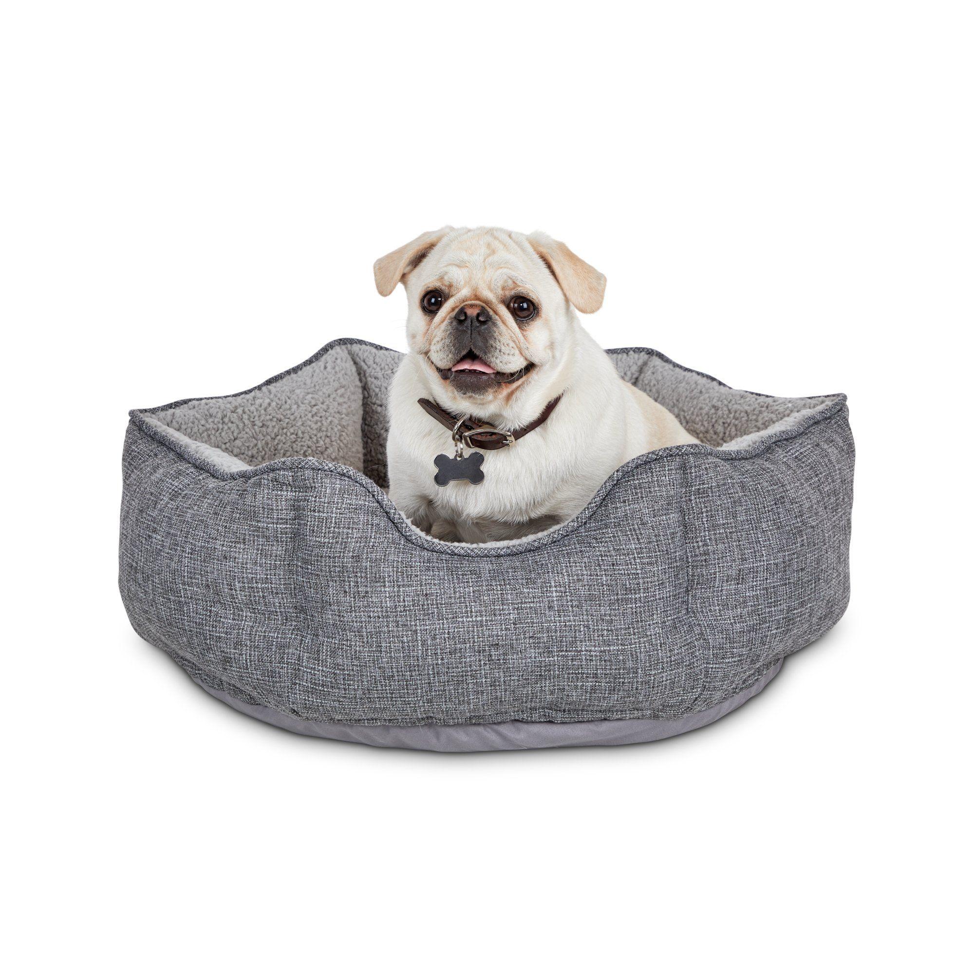 Harmony Cozy Cottage Gray Hexagon Nester Dog Bed 22 L X 22 W X