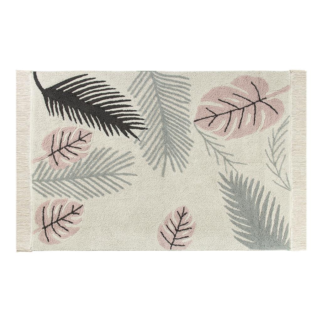 Tropical Rug Gray And Pink Nursery Tropical Rugs