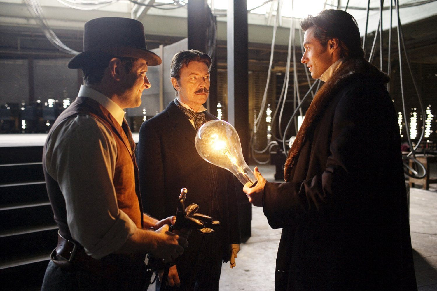 Directed By Christopher Nolan With Christian Bale Hugh Jackman Scarlett Johansson Michael Caine Two Stage Magician The Prestige Movie The Prestige Movies