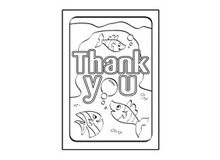 there are lots to choose from plus your child can enjoy colouring them in and writing their own message inside say thank you with a card