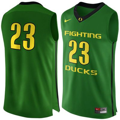 23 Oregon Ducks Nike Authentic Basketball Jersey - Apple Green ... 29b460820
