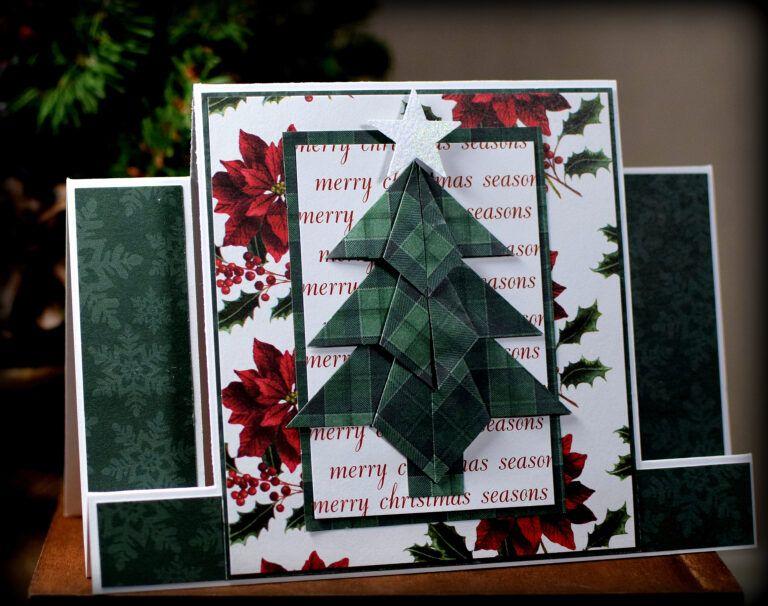 Tea Bag Fold Christmas Tree Center Step Card | I Played ...