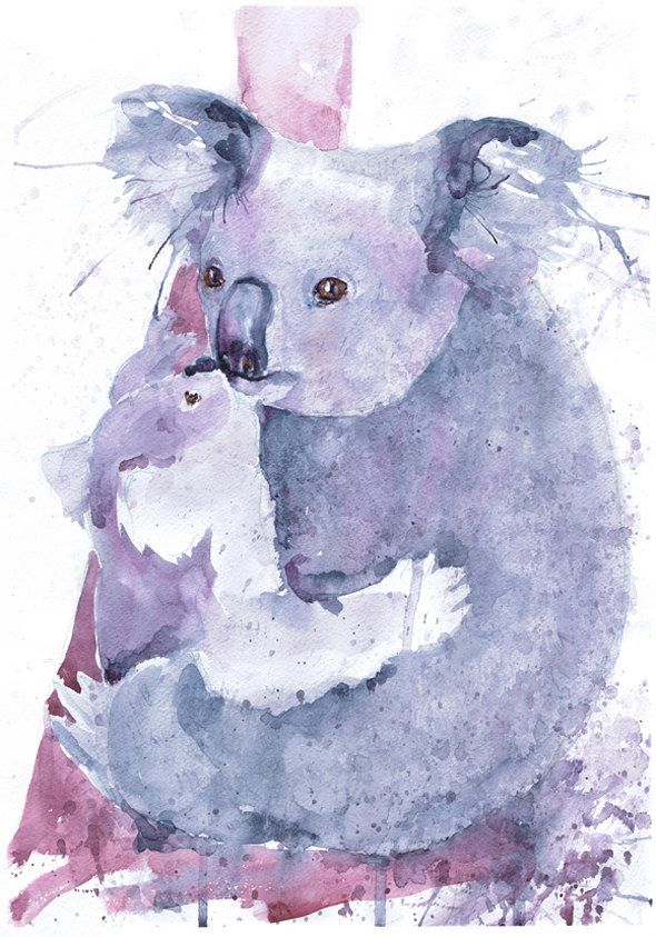 Pin By Ashley Fields On Tattoos Animals Watercolor Animal Paintings