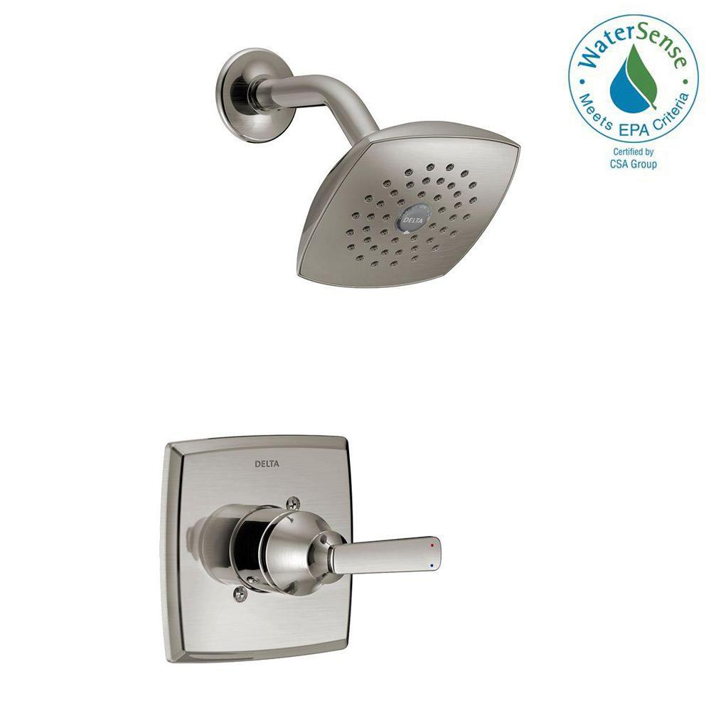 Delta Ashlyn 1 Handle Pressure Balance Shower Faucet Trim Kit In Chrome Valve Not Included T14264 The Home Depot Shower Faucet Tub And Shower Faucets Delta Faucets Delta tub and shower trim kit