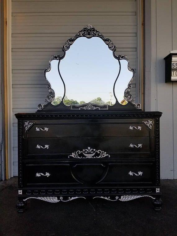 Antique Victorian Dresser And Mirror
