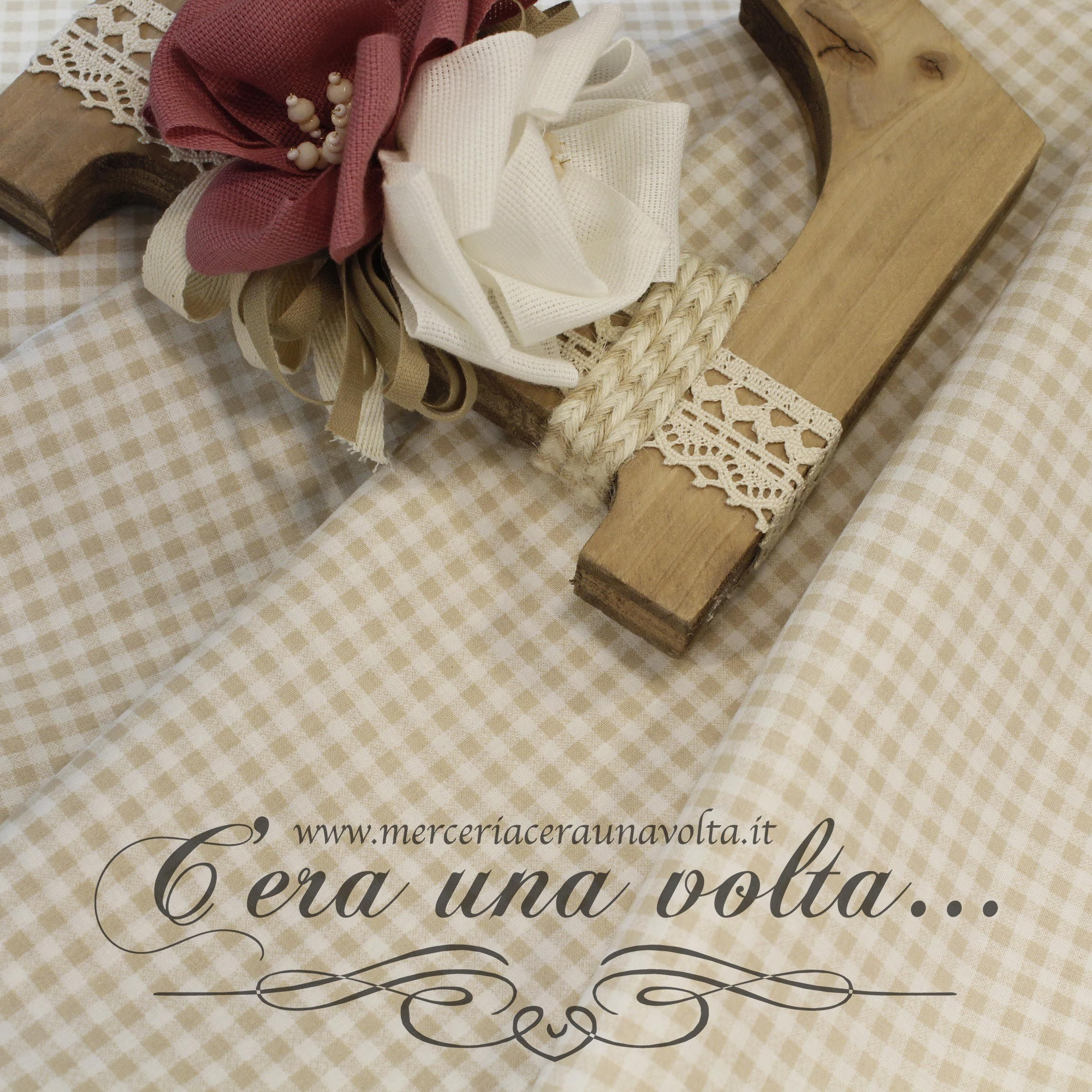 buy popular f6395 dcd39 Tessuto Fantasia Vichy Sabbia | TESSUTI | Tessuti, Abiti e ...