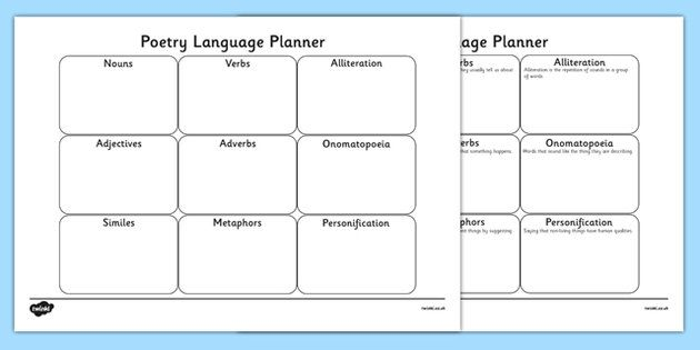 Poetry Planner Sheet - poetry, poem, poem planner, poetry writing - poetrys analysis template