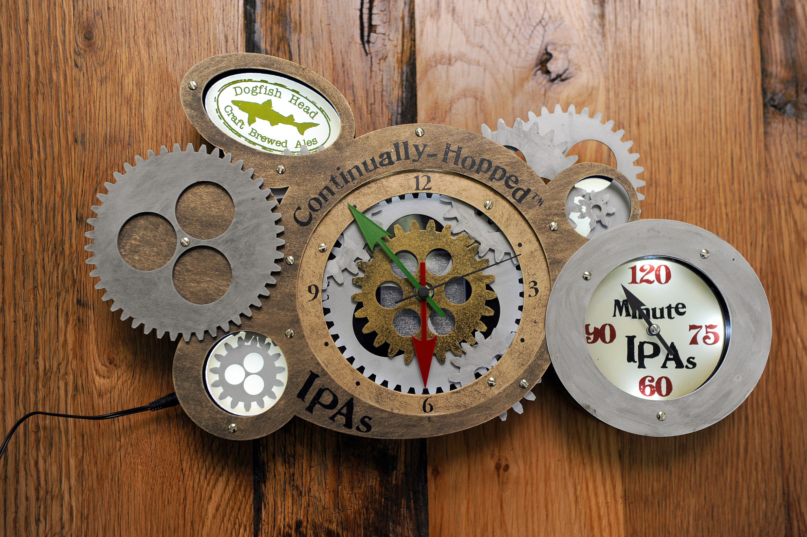 Dogfish Steampunk clock Steampunk clock, Rings cool