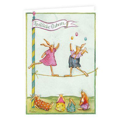 15 x Postkarten zu Ostern mit Umschlag Osterkarten Osterhase Osterpostkarten