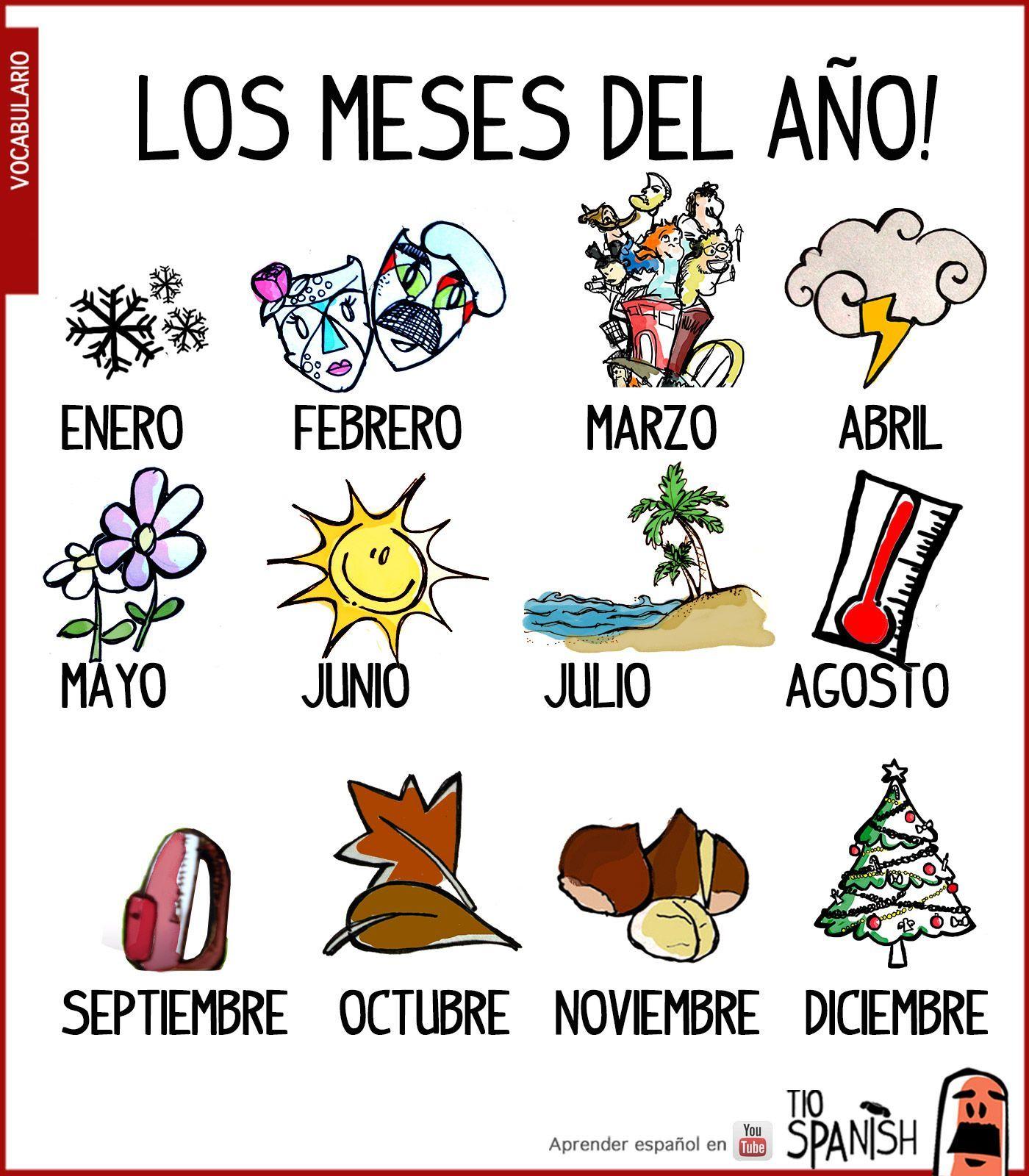 Image Result For Los Meses Del Ano En Espanol