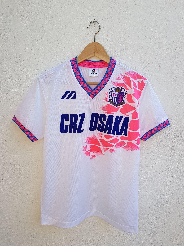 Vintage 90s Mizuno Neon Gamba Osaka Japan Soccer Club Jersey Ring Tribe Style Shirt Size M By Bubagumpbudu Classic Football Shirts Japan Soccer Football Shirts