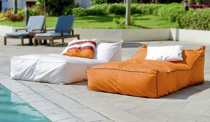 Secret Blend Outdoor Bean Bag Double Lounger Italian Leather