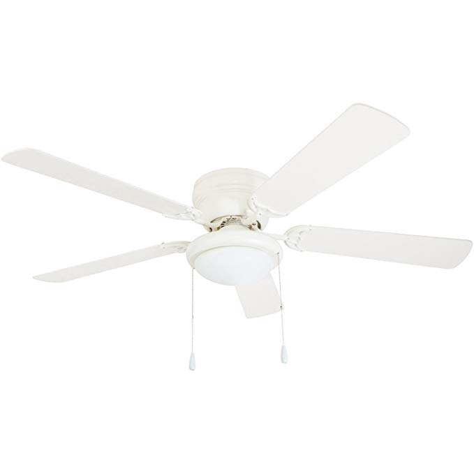 Portage Bay 50254 Hugger 52 White West Hill Ceiling Fan With Bowl