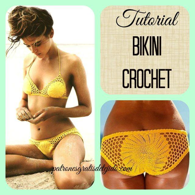 Crochet y Dos agujas: Aprende a tejer un bikini crochet / Paso a paso