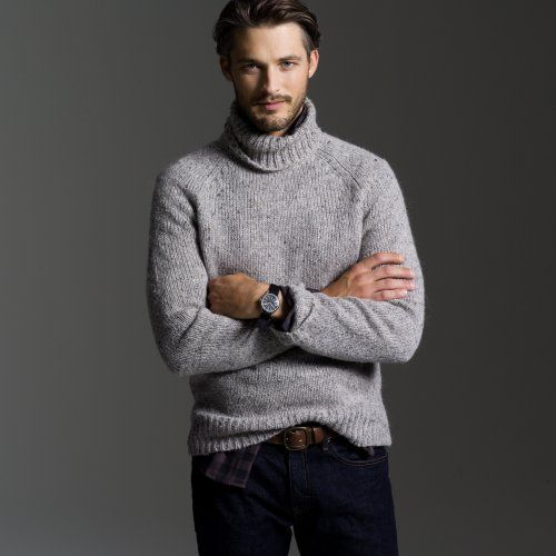 Men Wearing Turtlenecks Men Can Wear Casual Knitted Turtleneck