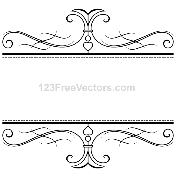 Free Calligraphy Ornamental Frame Freebies Vintage Frames Vector Free Vector Art Free Vector Graphics