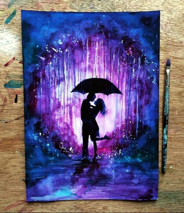 43 Dreamy Watercolor Inspired Wedding Ideas: 40 Amazing Silhouettes Art For Inspiration
