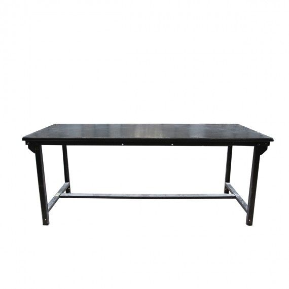 Army table, Table Patinated steel - MERCI