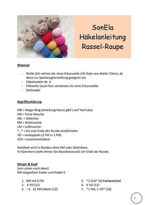 Photo of Gratis Häkelanleitungen – sonelas Webseite!