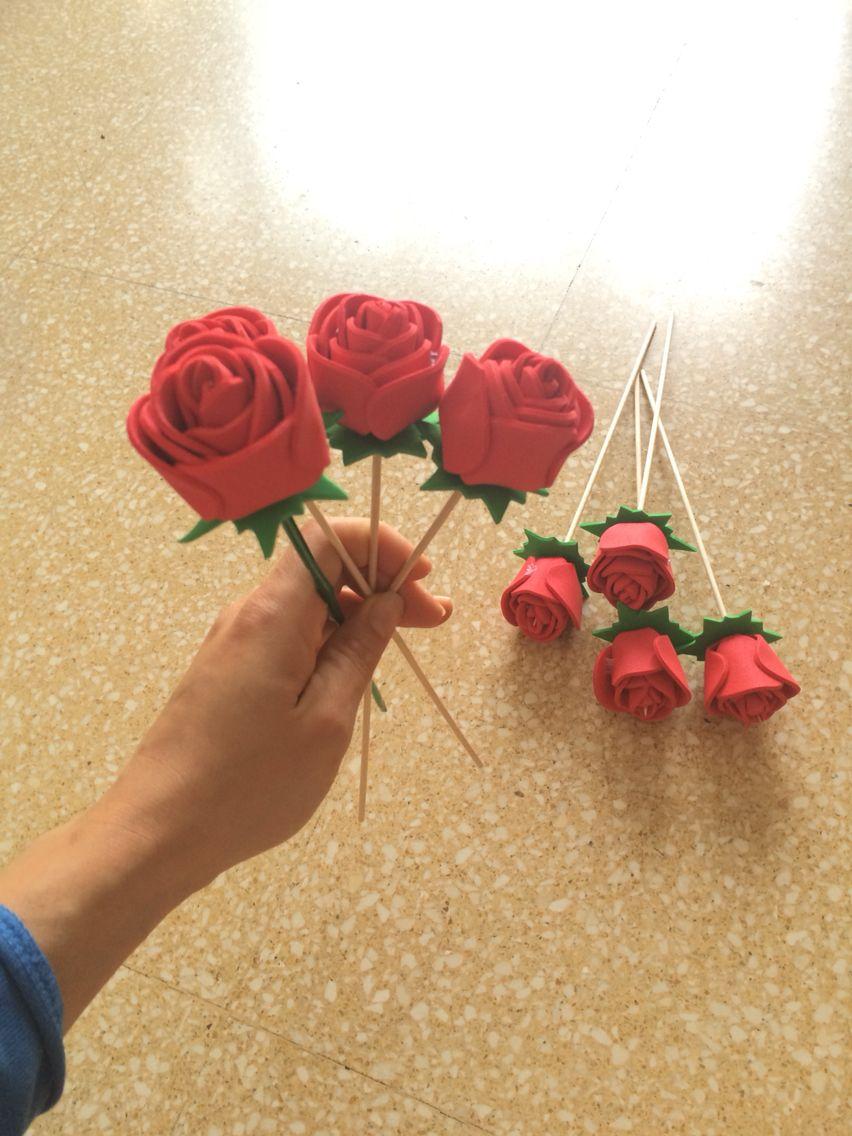 roses goma eva