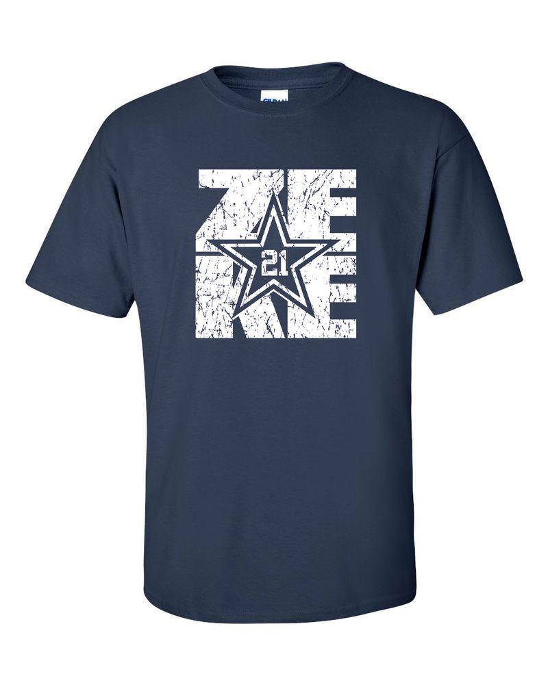Shirt design jackson tn - Ezekiel Elliott Zeke 21 Dallas Cowboys Navy T Shirt Design Adult Sizes Sm 3xl