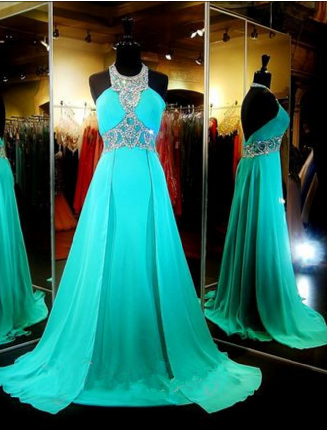 #Aline #Backless #Chiffon #Dresses #Evening #Formal #Gowns #Graduation #Halter #Juniors #Long #Party #Prom #Turquoise Turquoise Chiffon Prom Dresses Long A-line Evening Dresses  #prom #promdress #dress #eveningdress #evening #fashion #love #shopping #art #dress #women #mermaid #SEXY #SexyGirl #PromDresses #graduationdresscollege