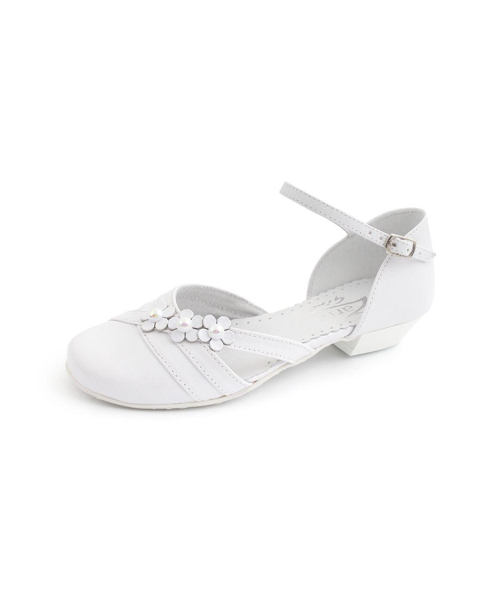 Biale Buty Komunijne Dla Dziewczynki Na Obcasie Heels Mule Shoe Shoes