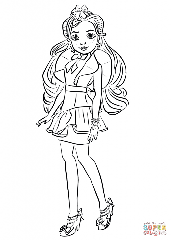 Jane Descendants Wicked World Coloring Page Coloring