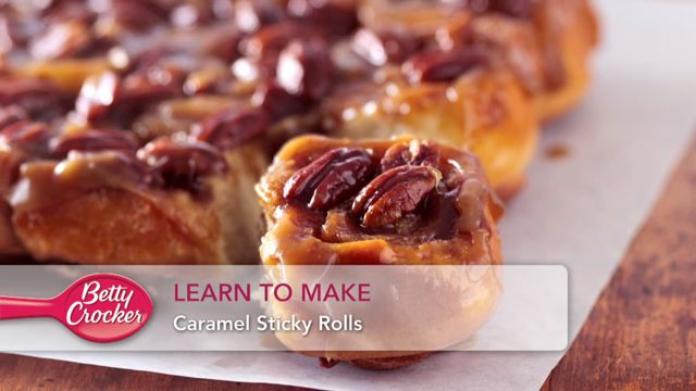 Learn To Make Caramel Sticky Rolls