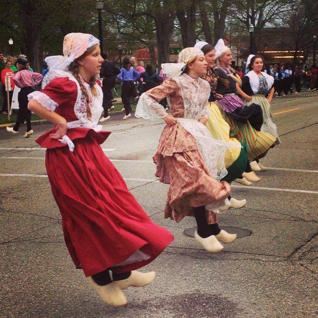 "Dutch dancing: ""Love this Holland tradition!"" says @ammckay44 (https://instagram.com/ammckay44/). ~ Tulip Festival, Holland MI"