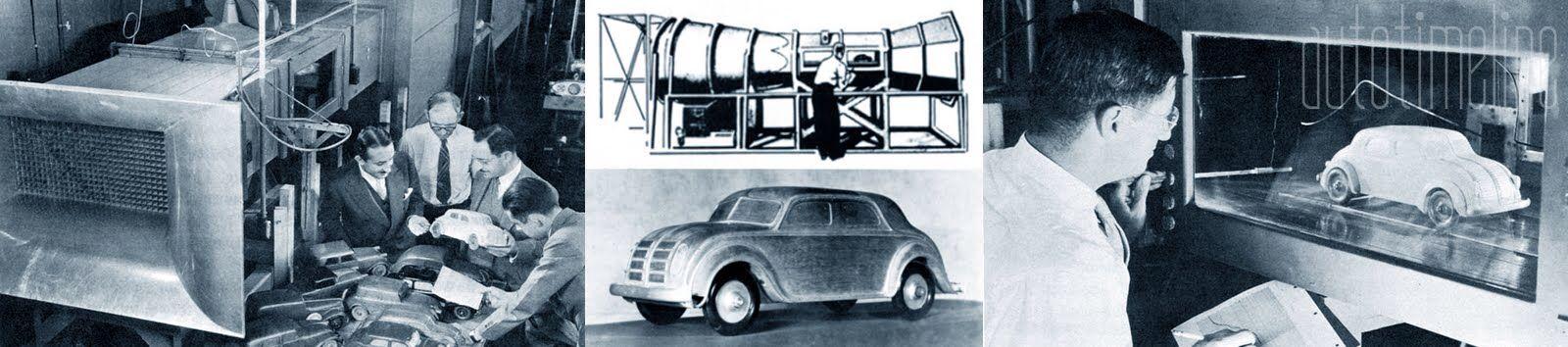 Chrysler Airflow wind tunnel testing.