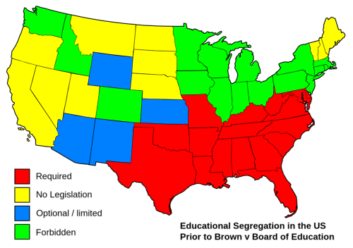 just—maps: Educational segregation in the United States prior ...