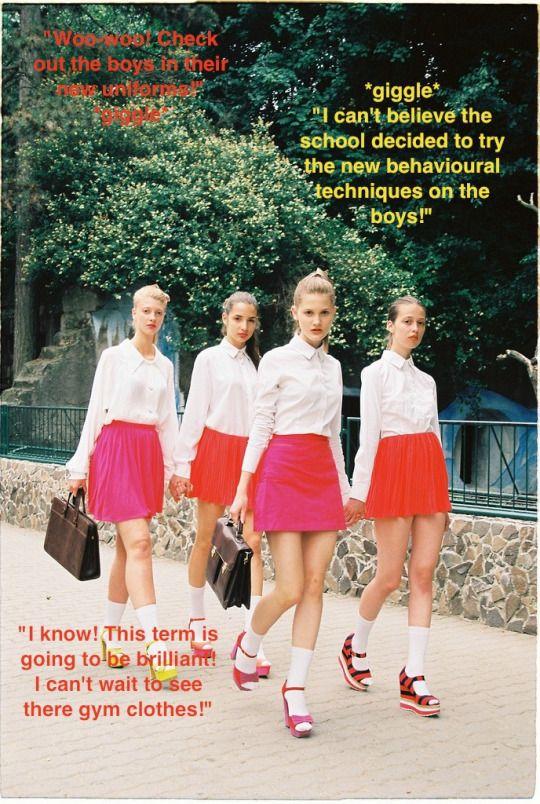 New School Uniform Gender Role Reversal Fashion Fashion Photo Style