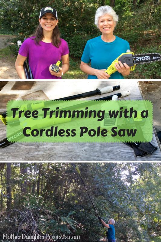 Tree Trimming With Ryobi Cordless Pole Saw Pole Saw Tree