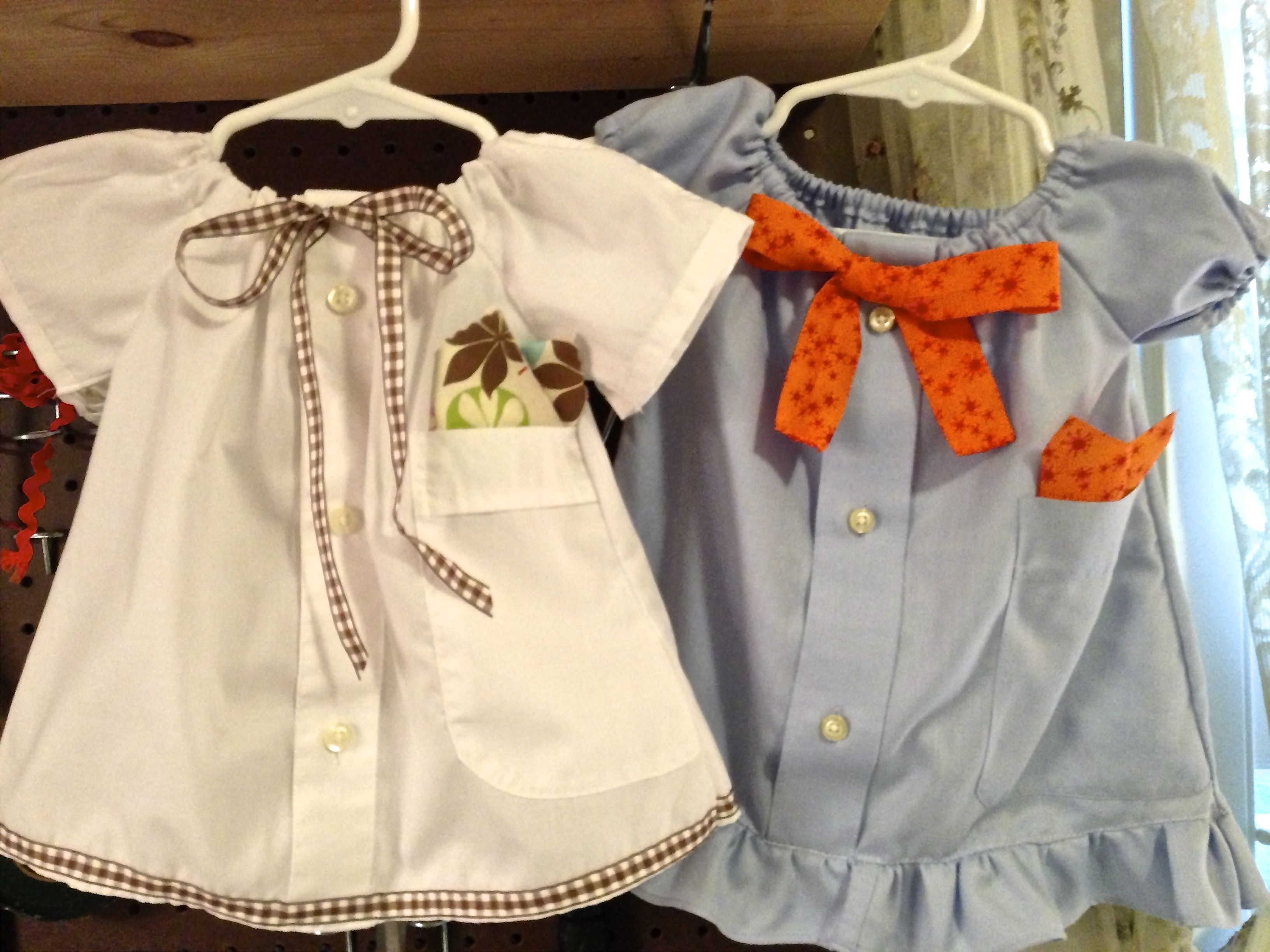 e4d153d32 Baby girl dresses made from Dad's old dress shirts | DIY Clothes ...