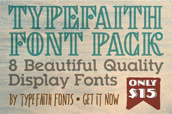 Download TypeFaith Creative Font Bundle   Creative fonts, Font ...