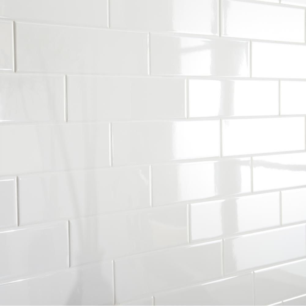 Daltile Restore Bright White 3 in. x 12 in. Ceramic Wall Tile (12 sq. ft. / Case)-RE15312HD1P2 - The Home Depot